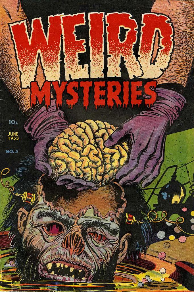 Weird Mysteries #5 Bernard Bailey Cover (Gillmor, 1953) jpg