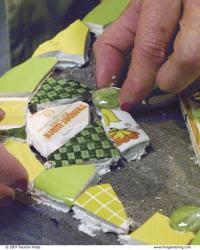 Como Fazer arte de jardim de mosaico