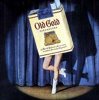 dancing cigarette pack                   ads