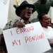 A group of city retirees protested against any cuts in their pensions in downtown Detroit in August.