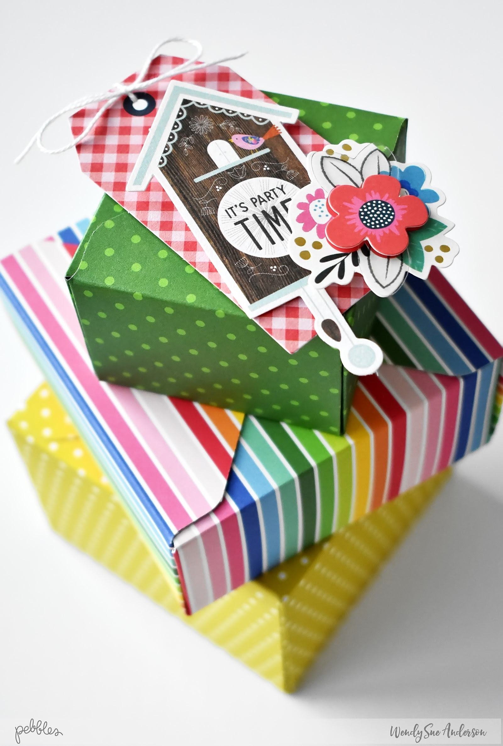 """Quick and Easy Party Details by @WendySue featuring the """"My Bright Life"""" collection by @PebblesInc."""