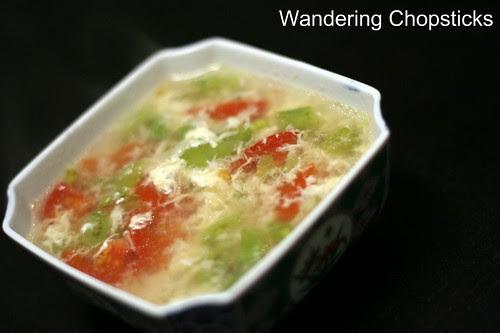 Sup Ca Chua Dau Xanh (Vietnamese Green Bean and Tomato Egg Drop Soup) 3