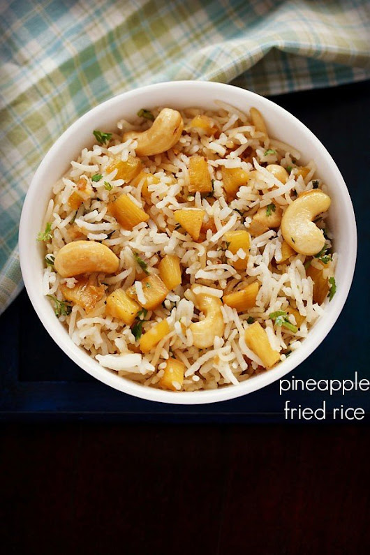 pineapple fried rice recipe, how to make pineapple fried rice recipe