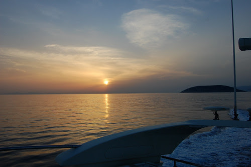 greece - sounion - sunset cruise