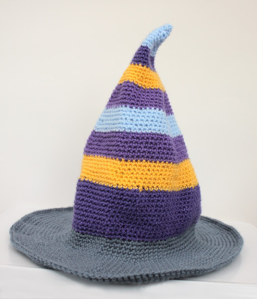 A whimsical witch hat for Halloween