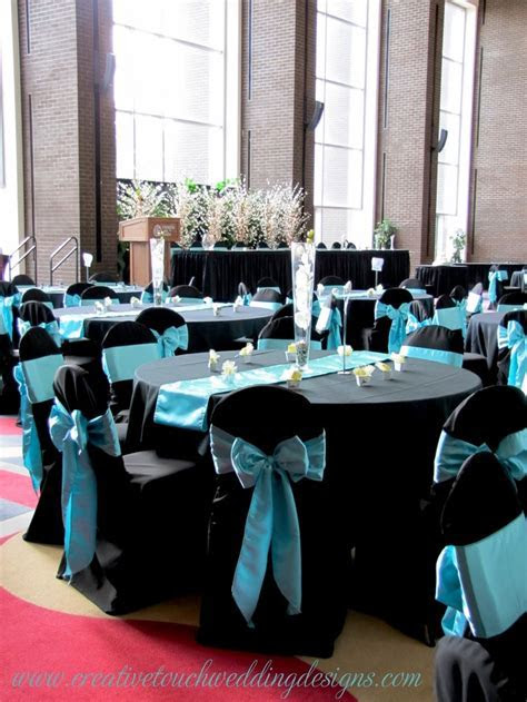Teal And Black Wedding Decorations