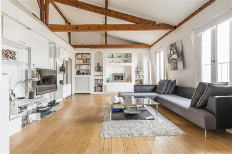 grey wood floors modern interior design  idaho