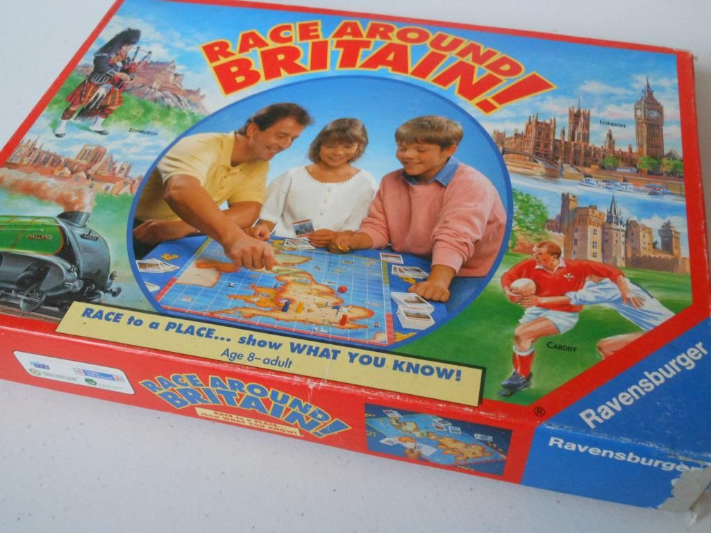 Race Around Britain! game box