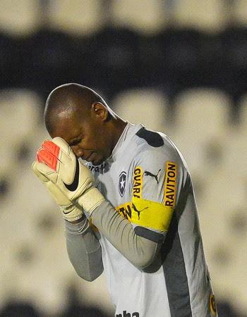 Botafogo x Figueirense - Jefferson (Foto: Pedro Martins / AGIF / Agência Estado)