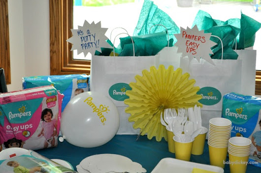 Potty Training Tips with Pampers Easy Ups - Baby Dickey