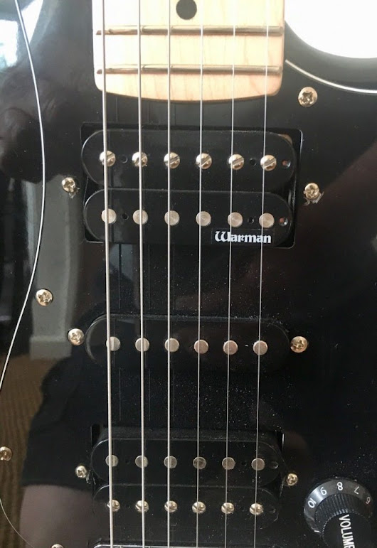 2013 Fender Squier Stratocaster – UPgraded – Canadian Maple Neck – Warman Pickup – Vintage Guitar Parts
