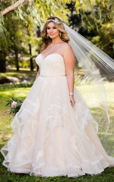 Plus SIze Wedding Dresses   Pink Lace Plus Size Wedding