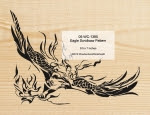 Eagle Scrollsaw Woodworking Pattern - fee plans from WoodworkersWorkshop® Online Store - scrollsawing,eagles,birds,wildlife,yard art,painting wood crafts,scrollsawing patterns,drawings,plywood,plywoodworking plans,woodworkers projects,workshop blueprints