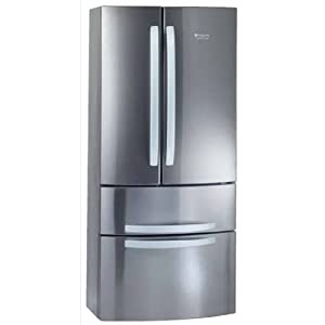 hotpoint ariston 4dxhax r frig rateur combin 389l classe a inox prix frigo americain. Black Bedroom Furniture Sets. Home Design Ideas