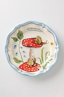 Francophile Dinner Plate, Mushroom