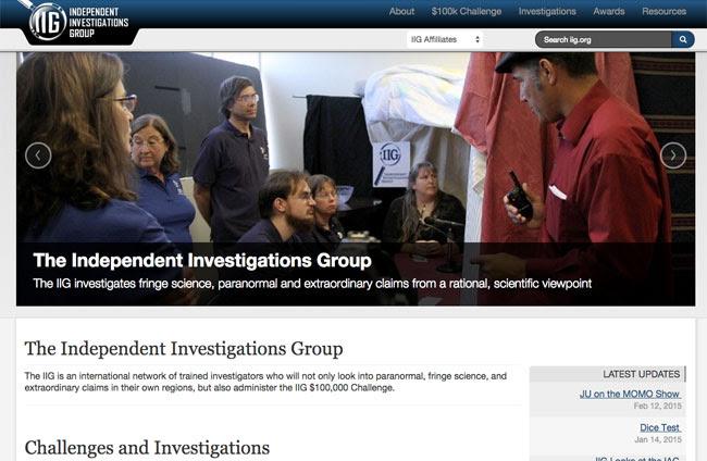 The IIG website.