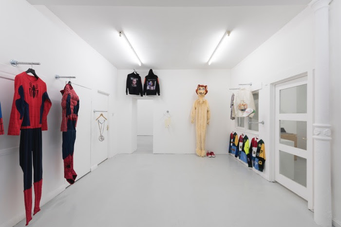 "Installation view of ""Artists' Clothes,"" a show at Carlos/Ishikawa that is part of Condo. COURTESY CARLOS/ISHIKAWA, LONDON"