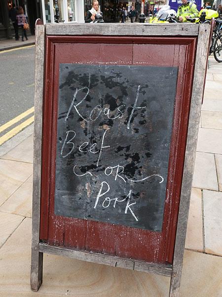 roast beef … or pork
