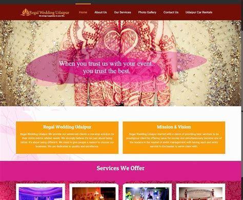 Wedding Planner Website Design Company Udaipur, Rajasthan