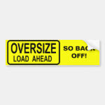 Oversize Load Bumper Sticker