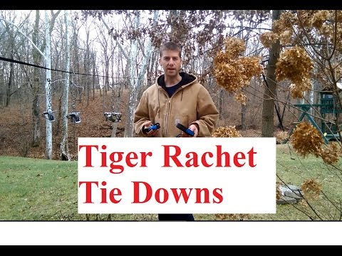 Tiger Rachet Tie Down Straps - 500lb Load Capacity/1500 Breaking Strength