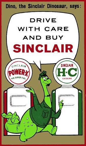 Dino the Sinclair Dinosaur Ad Character