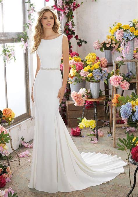 Simple wedding dress. Morilee wedding dress. Plain wedding