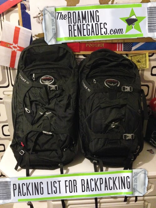 What we are packing for long term travels/ backpacking - The Roaming Renegades