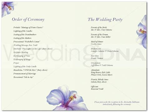 Design Your Own Wedding Program Free : Free Programs