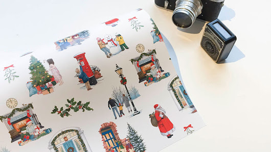 Christmas Wrapping Paper Design - Illustration by Jonathan