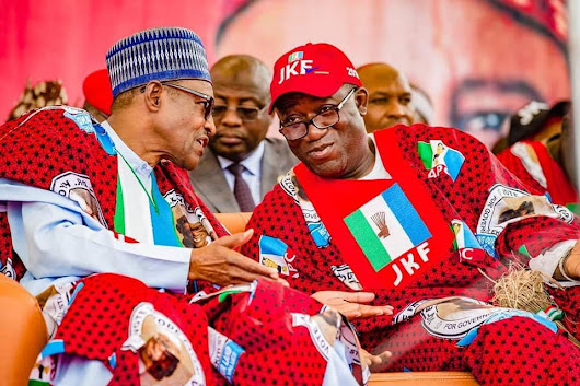 Buhari to Fayemi: Be magnanimous in victory