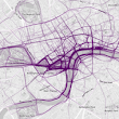 Blurred lines: data project shows popular running routes in 22 cities