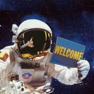 image-astronaute-espace-portant-panneau-welkome