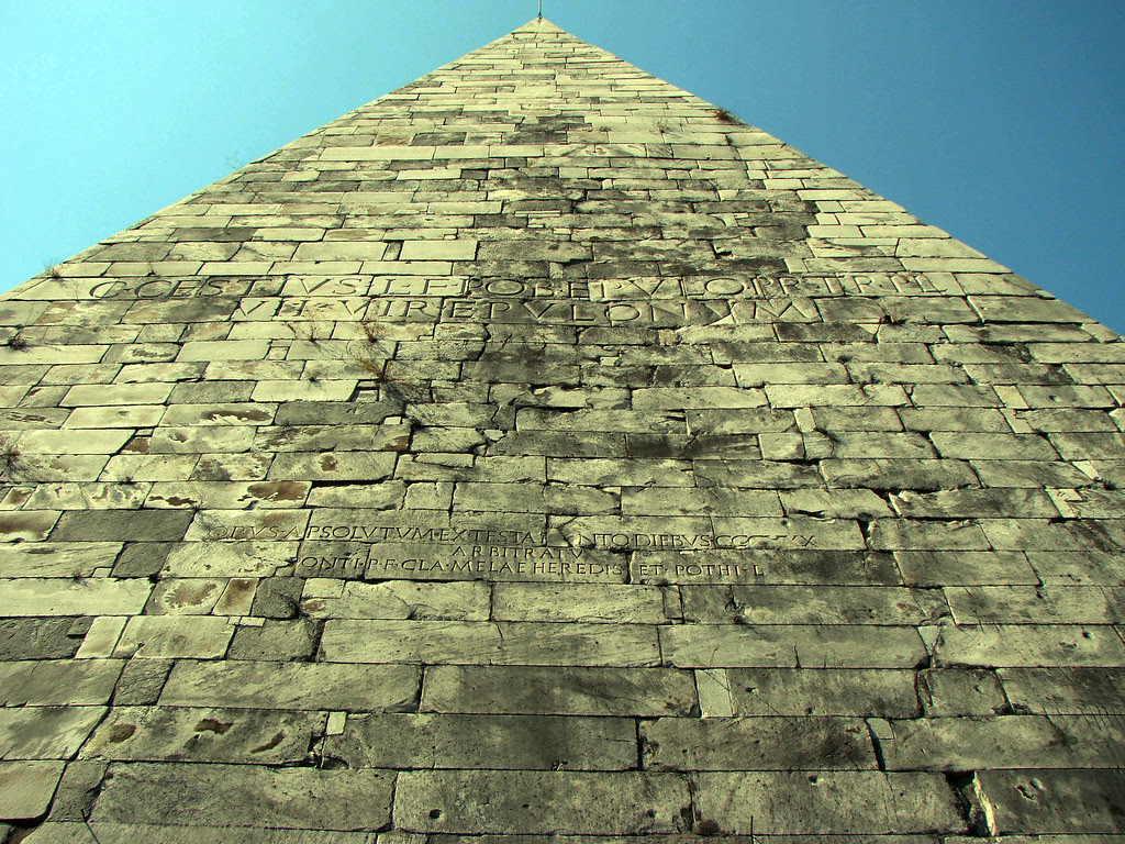 Rome, pyramid of Cestius