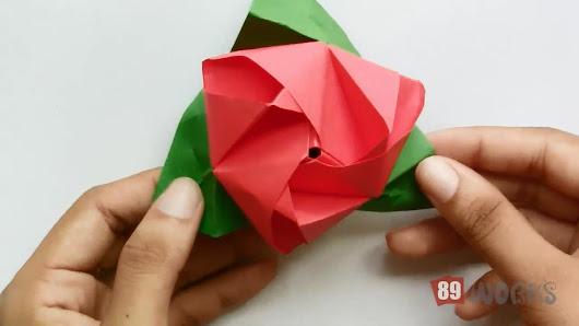 Origami google origami paper works rose flower cube hand works 03 mightylinksfo