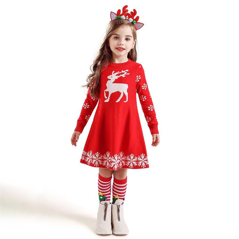 christmas themed winter dress – grandma's gift shop