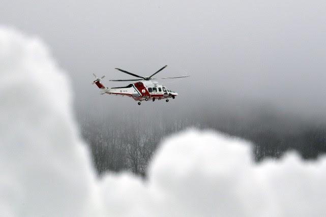 L'hélicoptère était en train d'évacuer un blessé de... (AP)