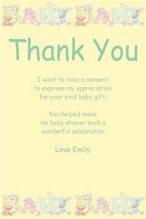 personalised baby shower thank you card design 10 baby