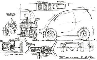 Gordon Murray T25 2008 sketch
