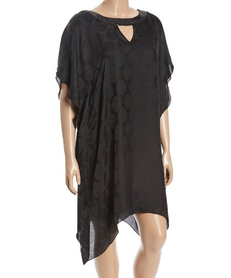 Black Circle Ikat Tunic - Plus