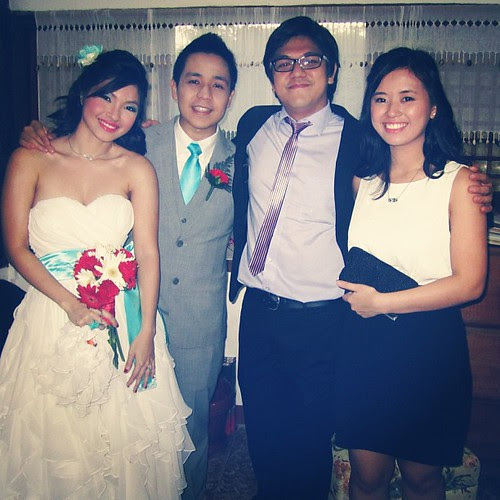 With the newlyweds :)