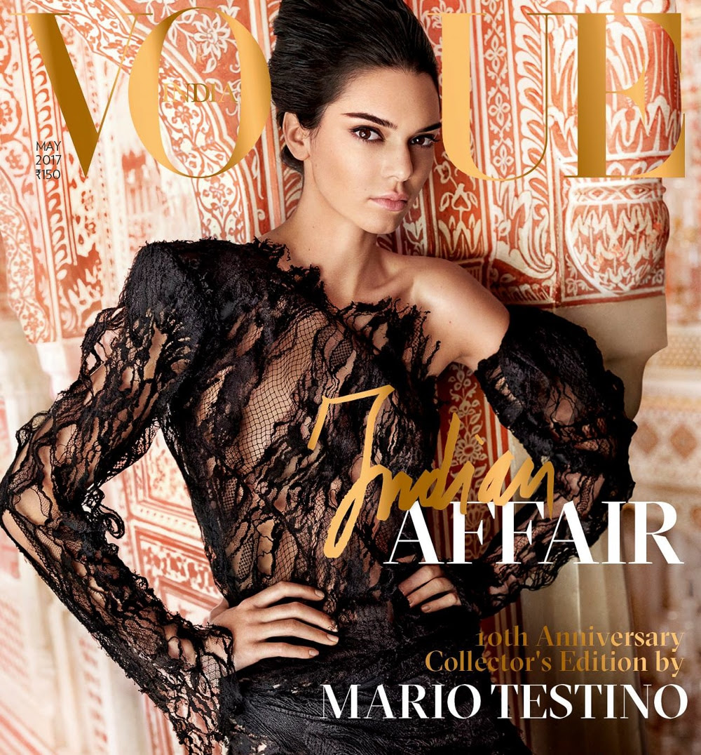 Vogue India May 2017 Kendall Jenner by Mario Testino