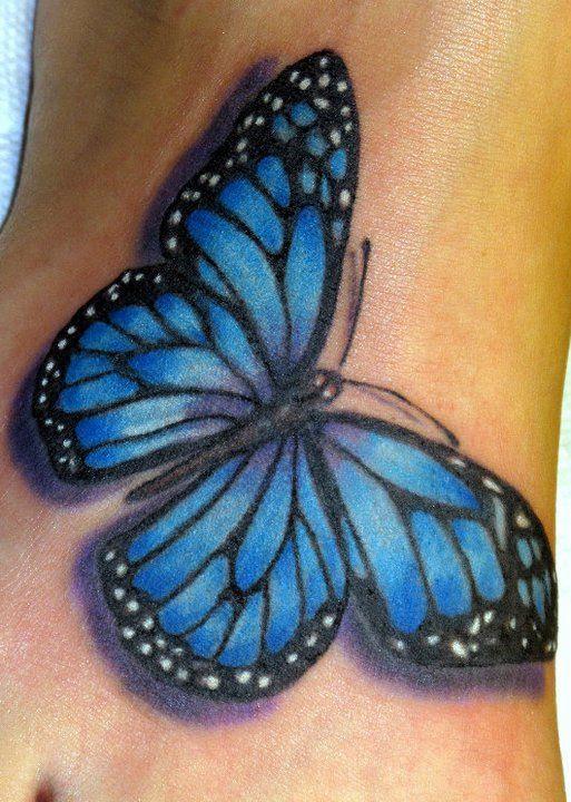 Blue Tattoo Of Butterfly Tattoomagz