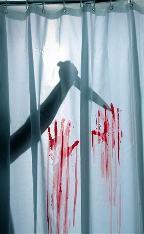 Horror Movie Shower Curtain & Bath Mat   ThinkGeek