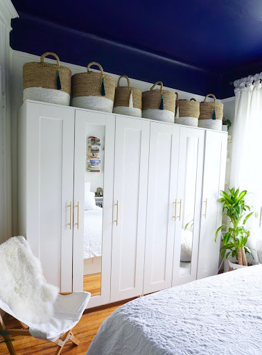 Ikea Armoire Brimnes Image Result For Wardrobe Hack From Diy Mirrored Nightstands Duration Shared Nursery Reveal The Home Decor