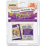 """Brother TZe AF131 Laminated tape, 0.47"""" x 26.2' Roll, Black on clear"""