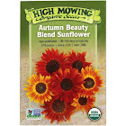 High Mowing Organic Seeds - Organic Autumn Beauty Blend Sunflower Seeds - 1 Packet
