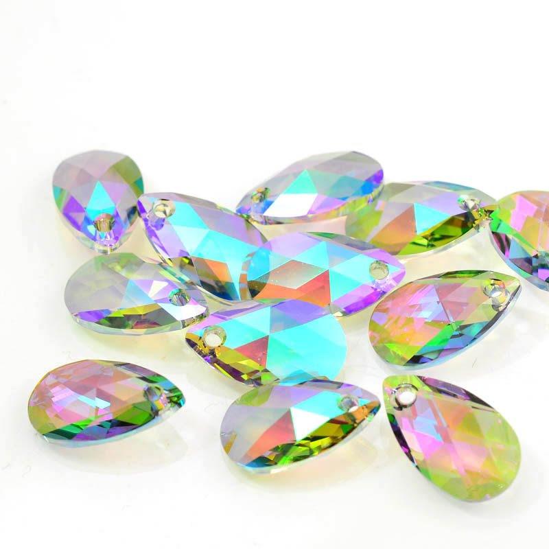 34761060077007 Swarovski Pendant - 16 mm Faceted Pear Drop (6106) - Crystal Paradise Shine (1)