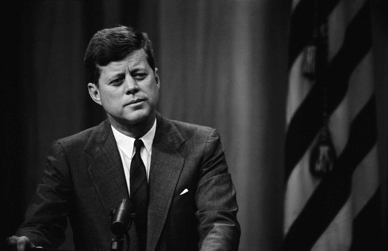 WASHINGTON DC, UNITED STATES - FEBRUARY: American President John Fitzgerald Kennedy's press conference on February , 1962 in Washington DC, United States. (Photo by Keystone-France/Gamma-Keystone via Getty Images)