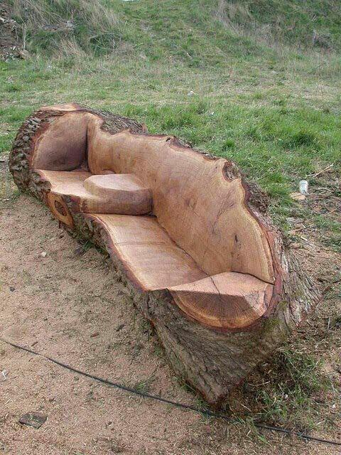 Asiento de tronco